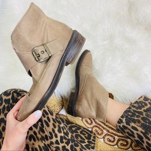 SixtySeven x Free People Taupe Ankle Booties